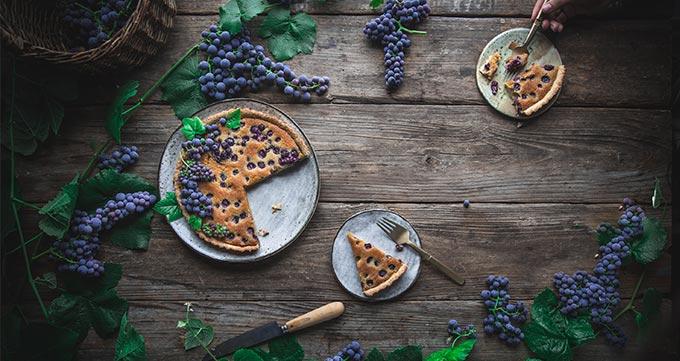 طرز تهیه تارت انگور