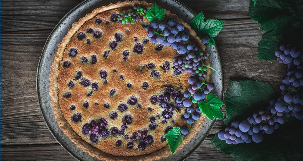 نحوه پخت تارت انگور