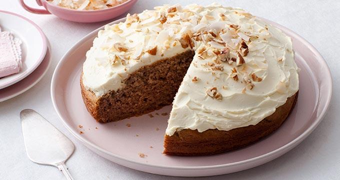 روش کار پخت کیک موز