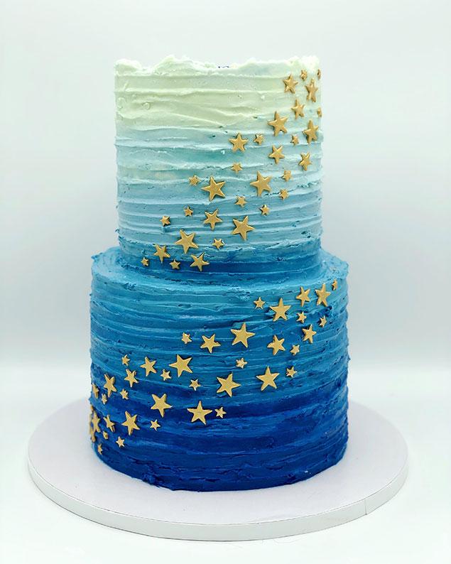 تزیین کیک آمبره به روش های مختلف