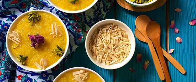 مواد مورد نیاز برای پخت شله زرد