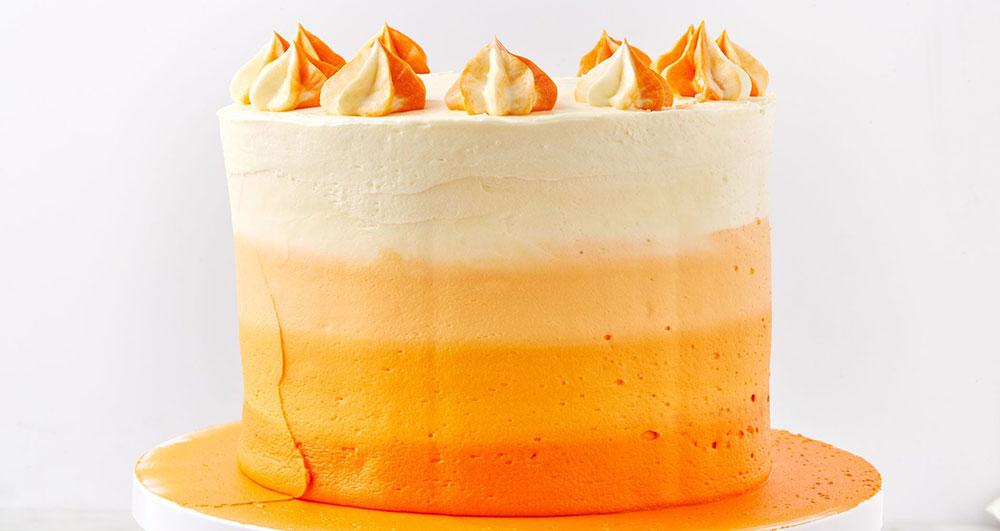 در طرز تهیه ی تزیین کیک آمبره