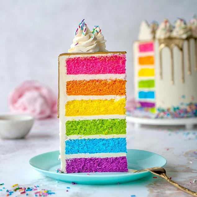 مواد اولیه کیک رنگین کمانی