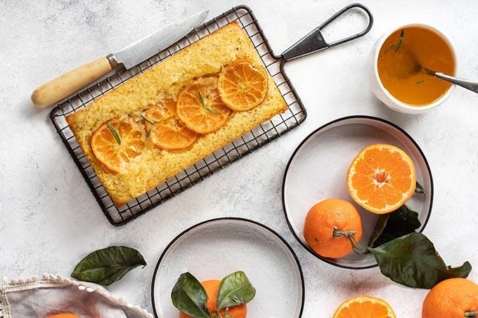 مواد مورد نیاز برای تهیه ی کیک نارنگی