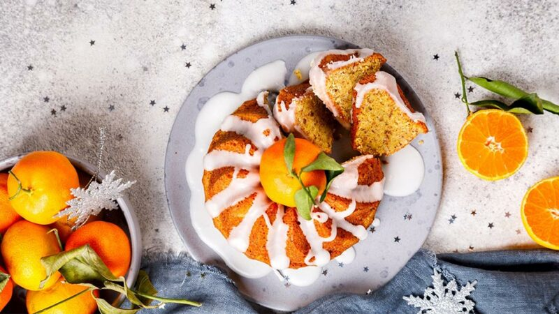 مراحل طرز تهیه کیک نارنگی