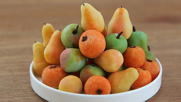 طرز تهیه شیرینی مارسبانی میوه ای