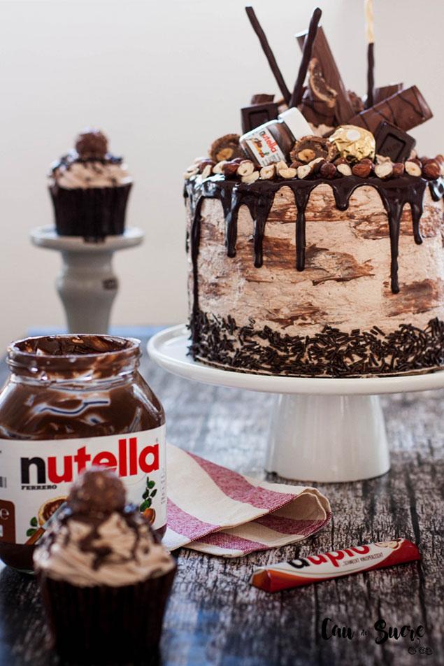 مواد اولیه و اصلی کیک شکلاتی نوتلا