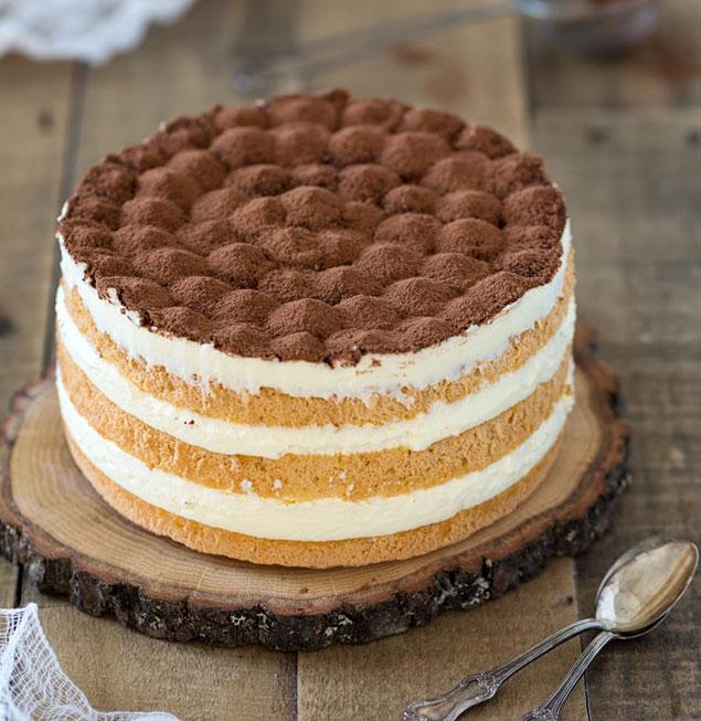 مرحله آخر کیک تیرامیسو